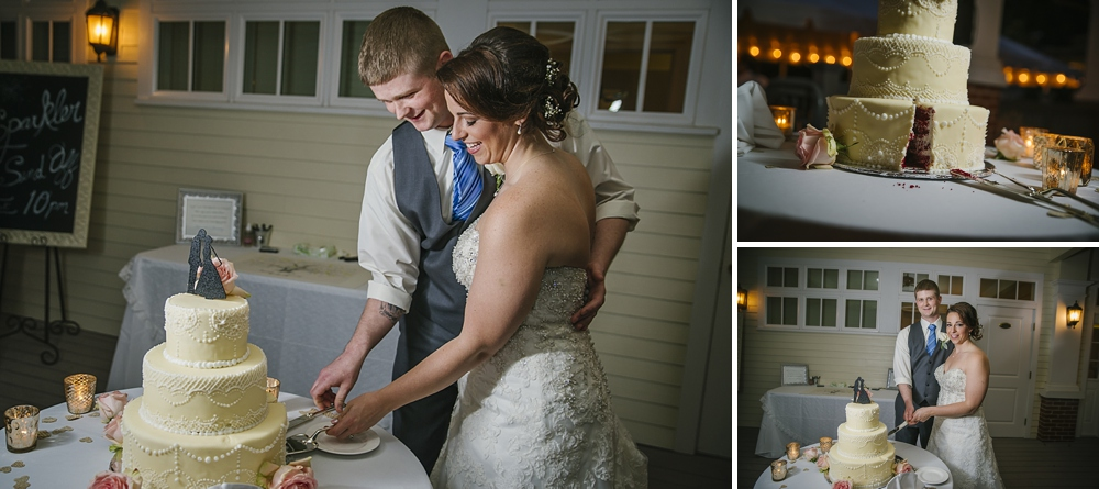 cake cutting palmetto riverside B&B wedding photos
