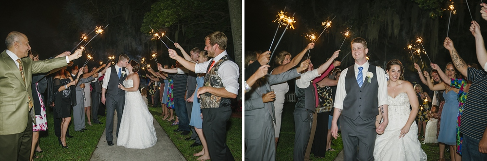 And a perfect sparkler exit! Congratulations!