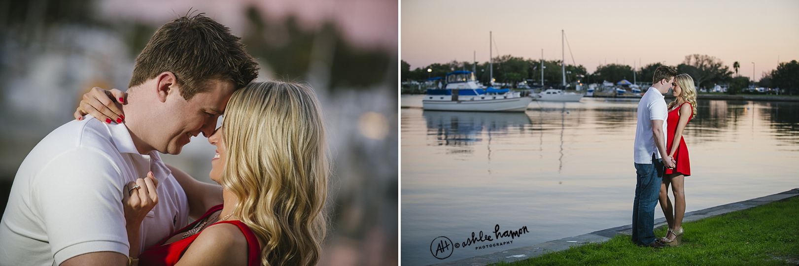 downtown st. pete waterfront engagement photos