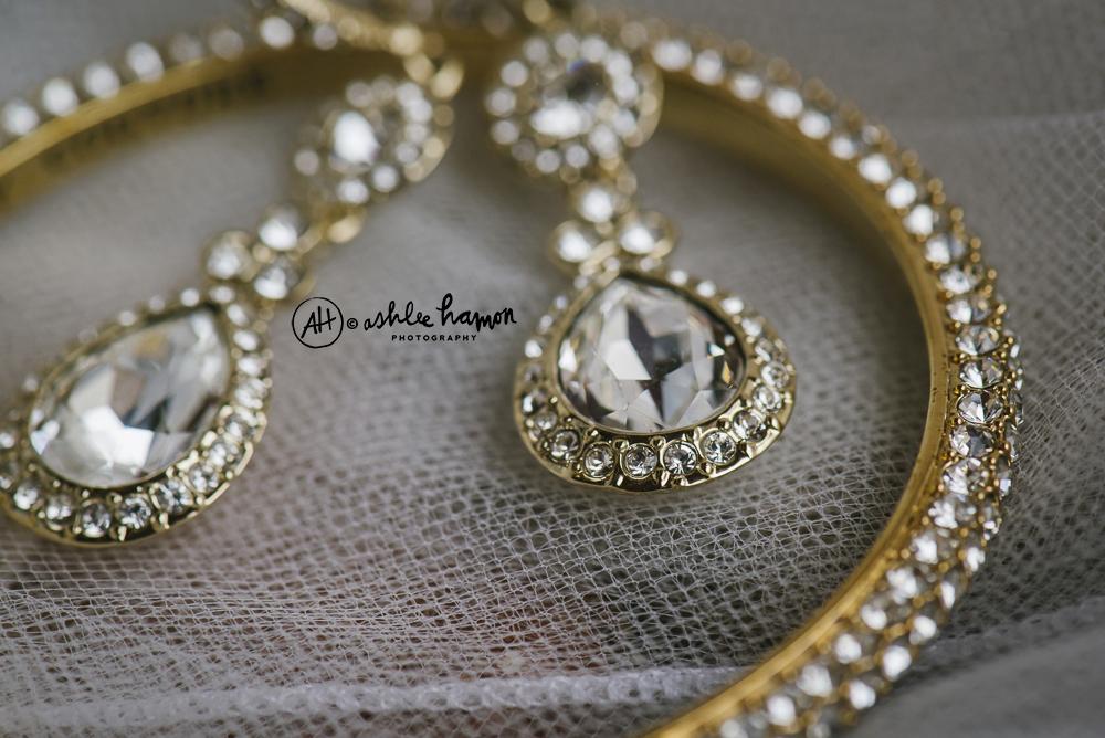 gold givinchy wedding earrings