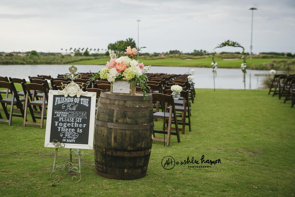 whiskey barrel wedding decor
