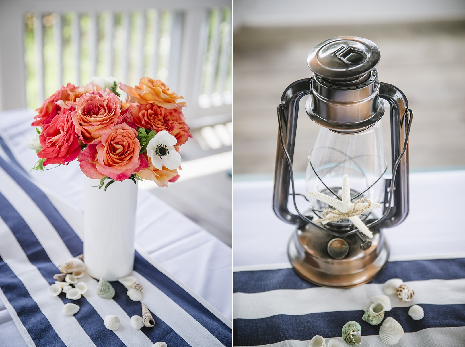 nautical beach wedding decor