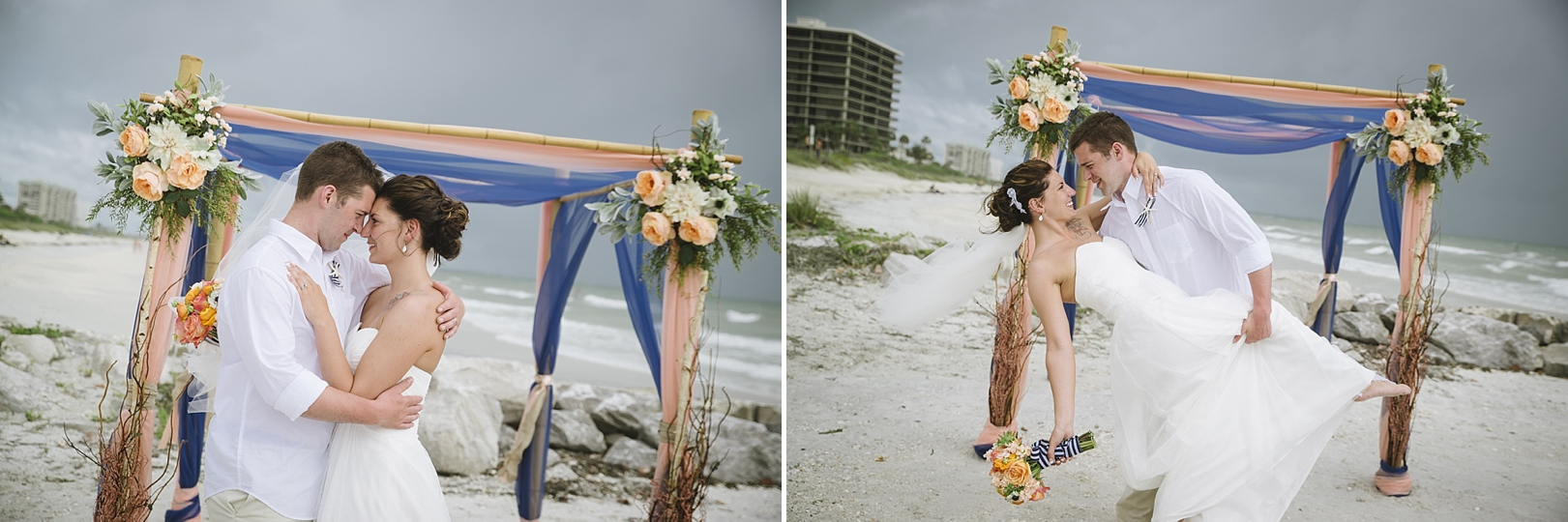 romantic nautical beach wedding