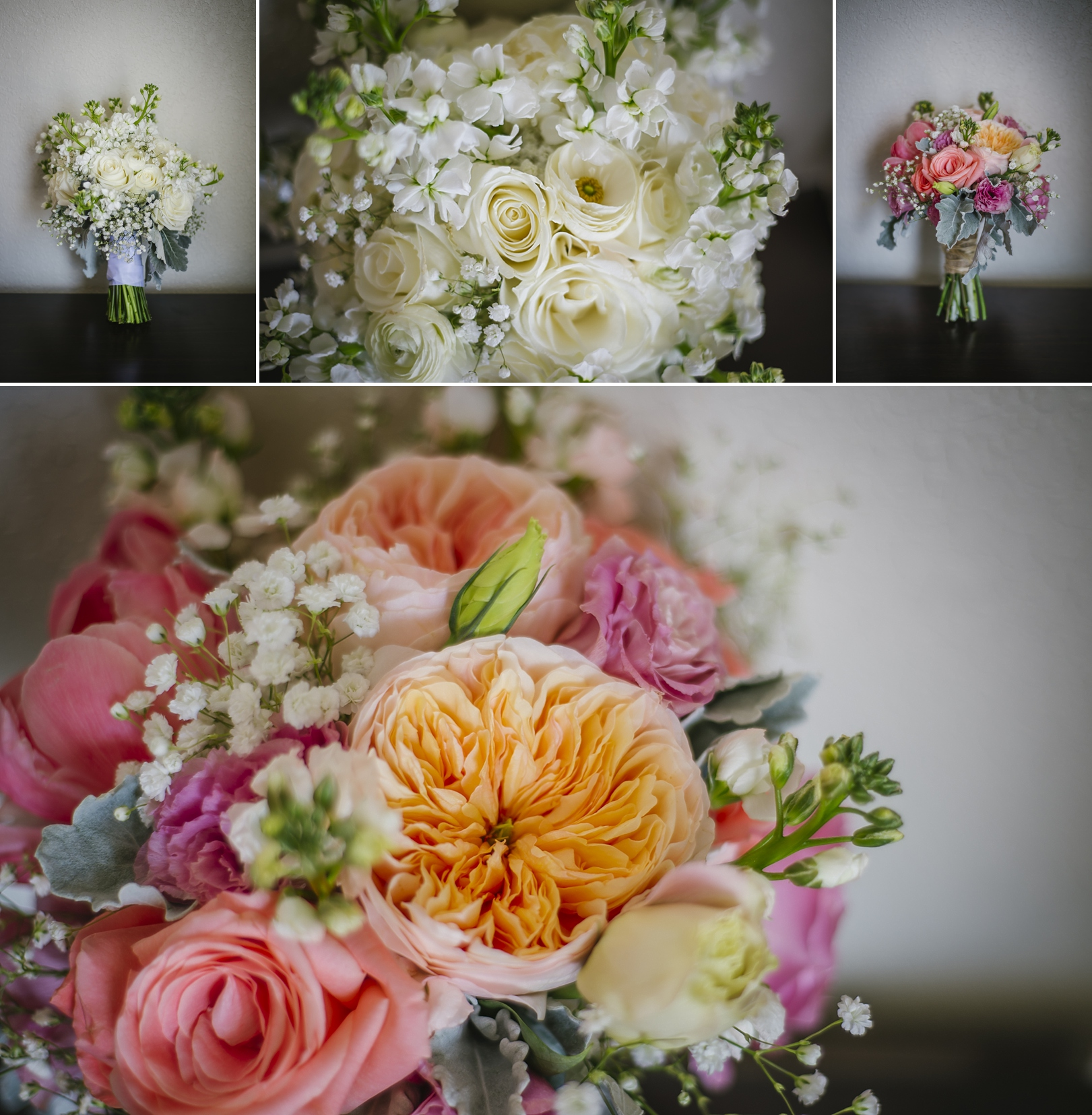 2 birds events wedding flowers coral pink