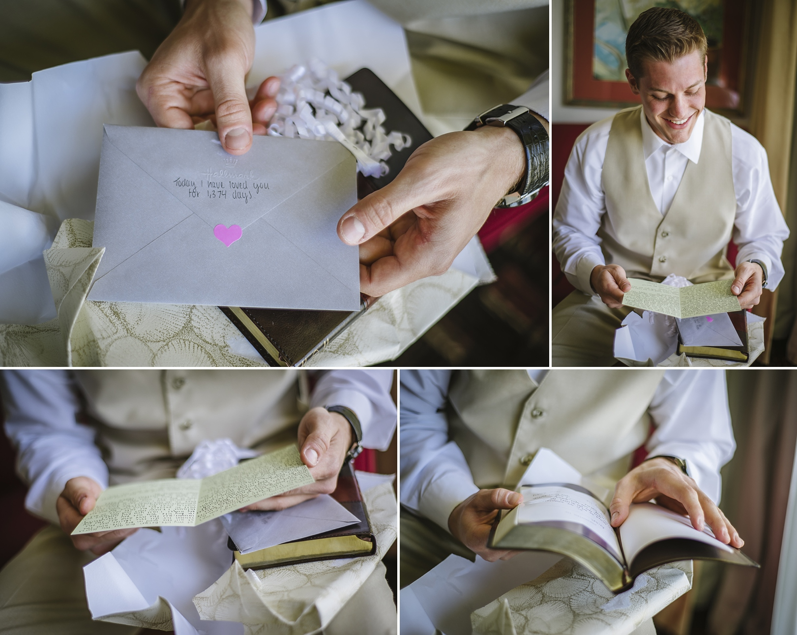 groom bible gift at the sirata wedding