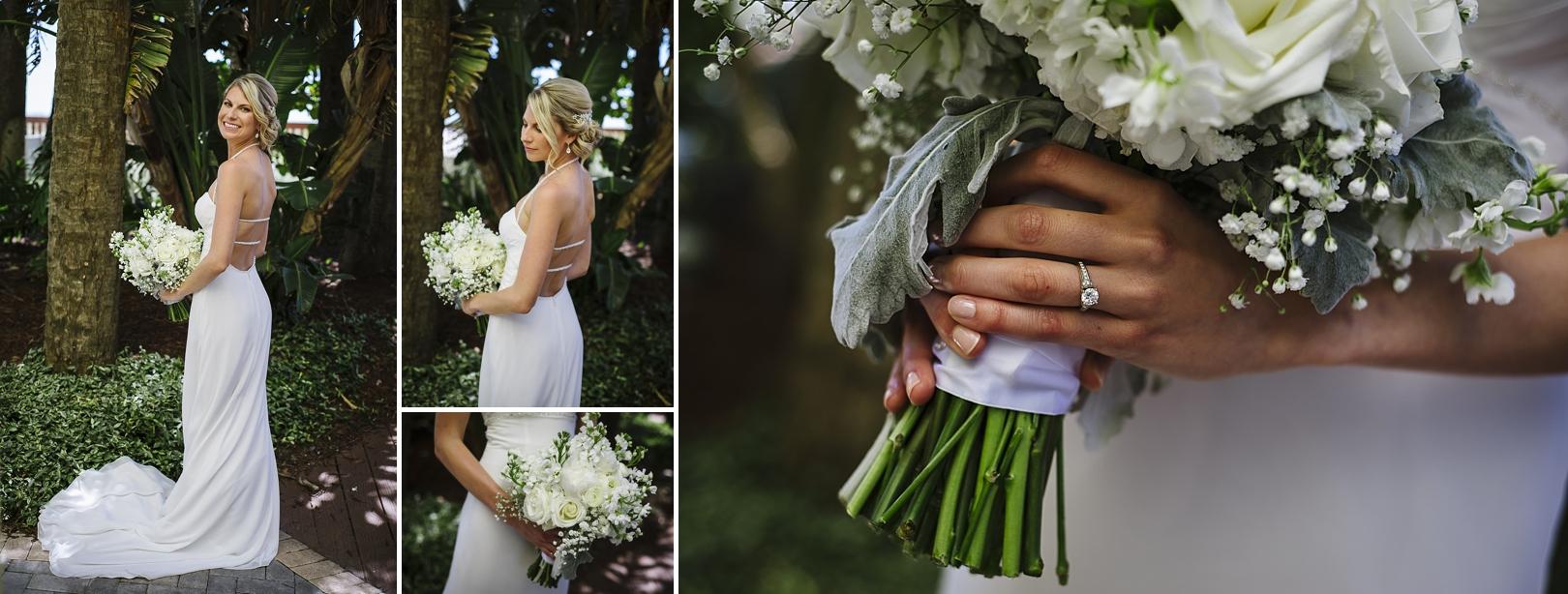 bridal portraits sirata beach wedding photos
