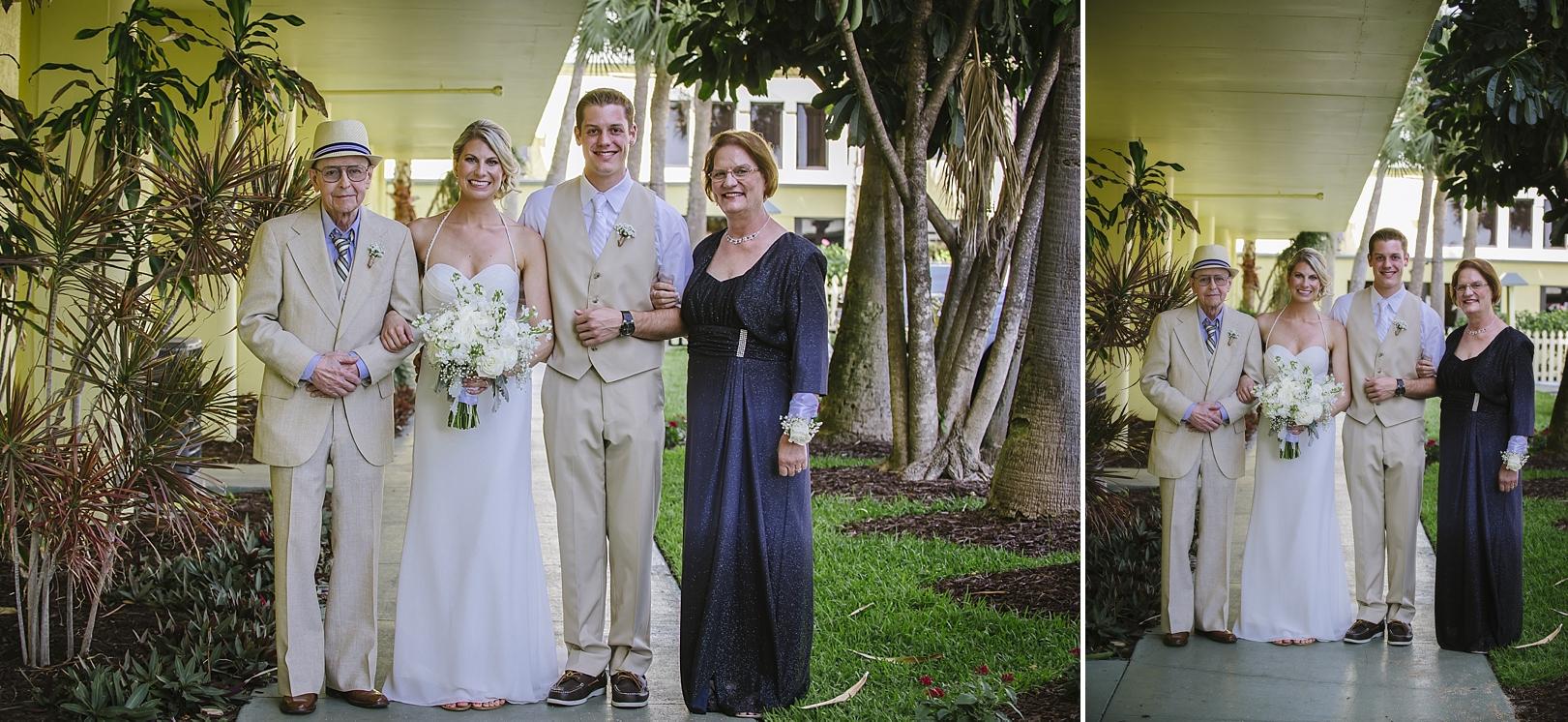 family formals sirata beach wedding photos