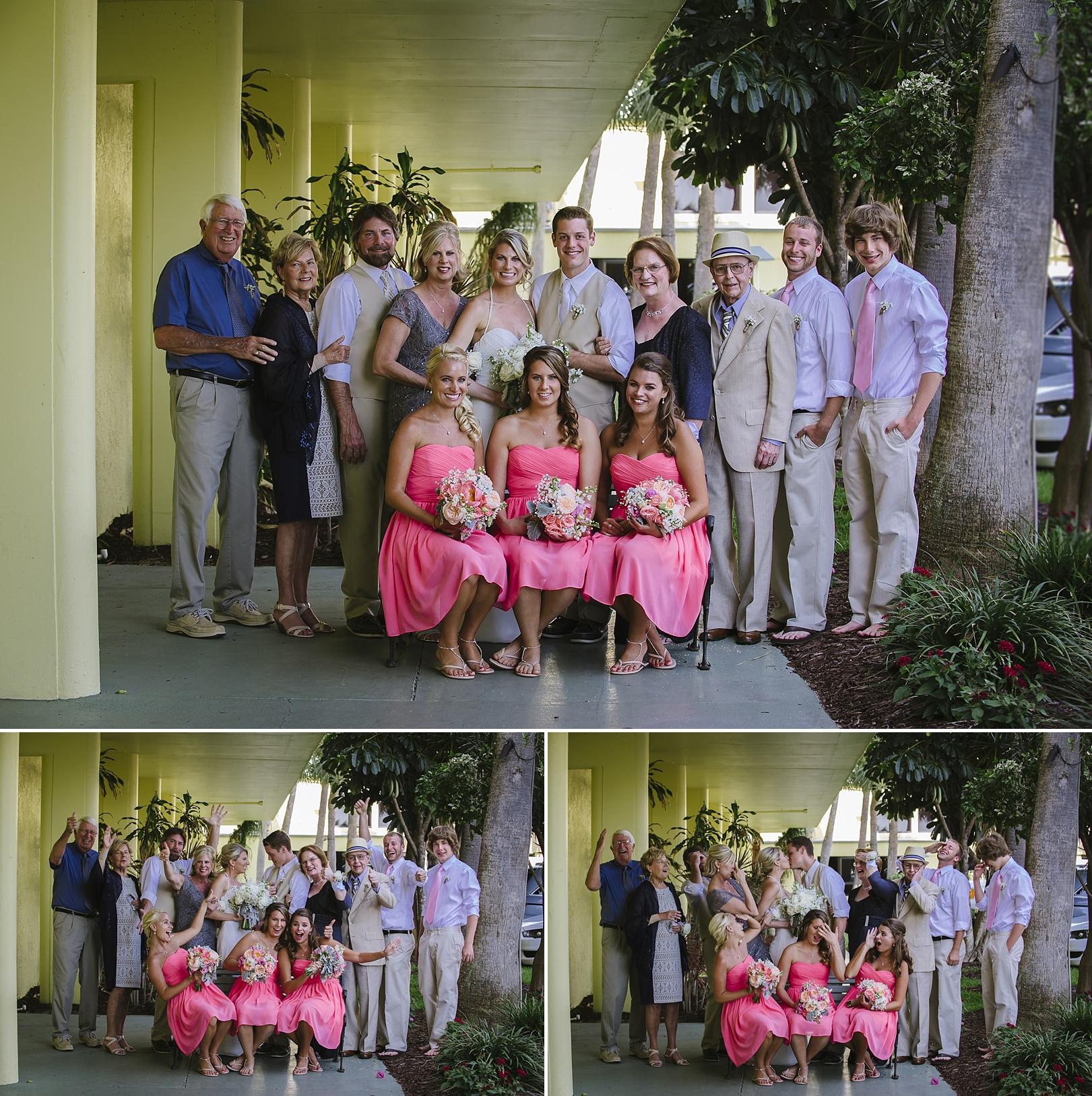 fun family formals sirata beach wedding photos