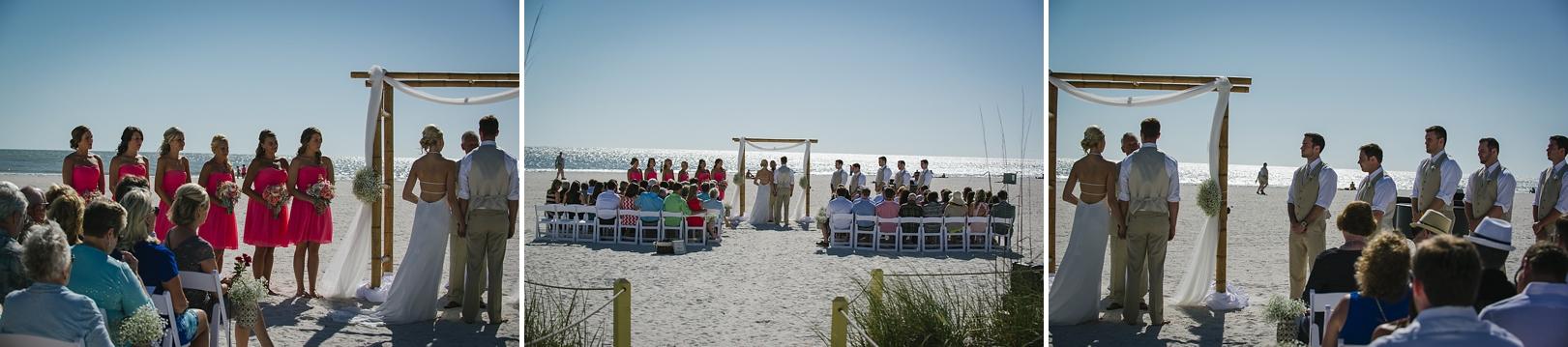 sirata beach wedding photos ceremony