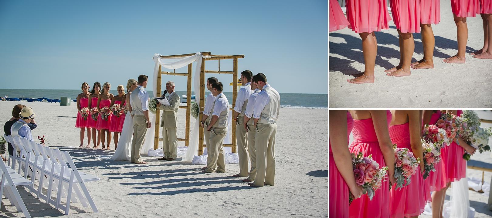 coral pink sirata beach wedding photos