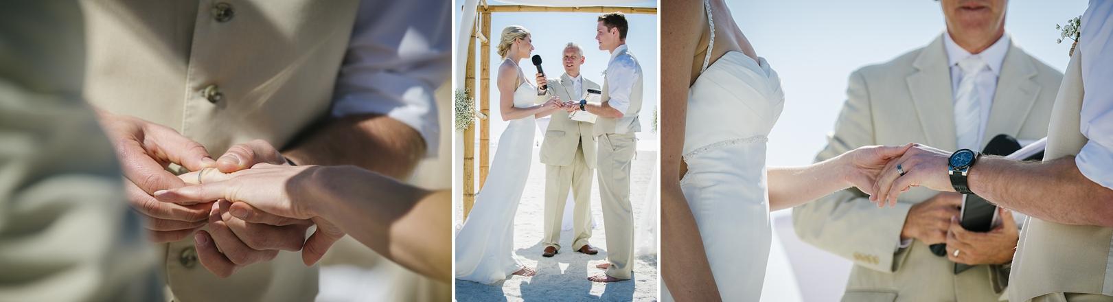sirata beach wedding photos rings