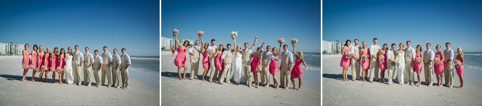 sirata beach wedding photos bridal party fun
