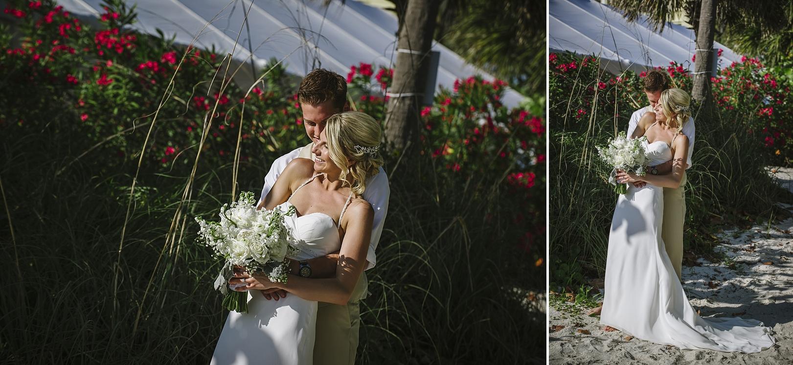 romantic portraits sirata beach wedding photos