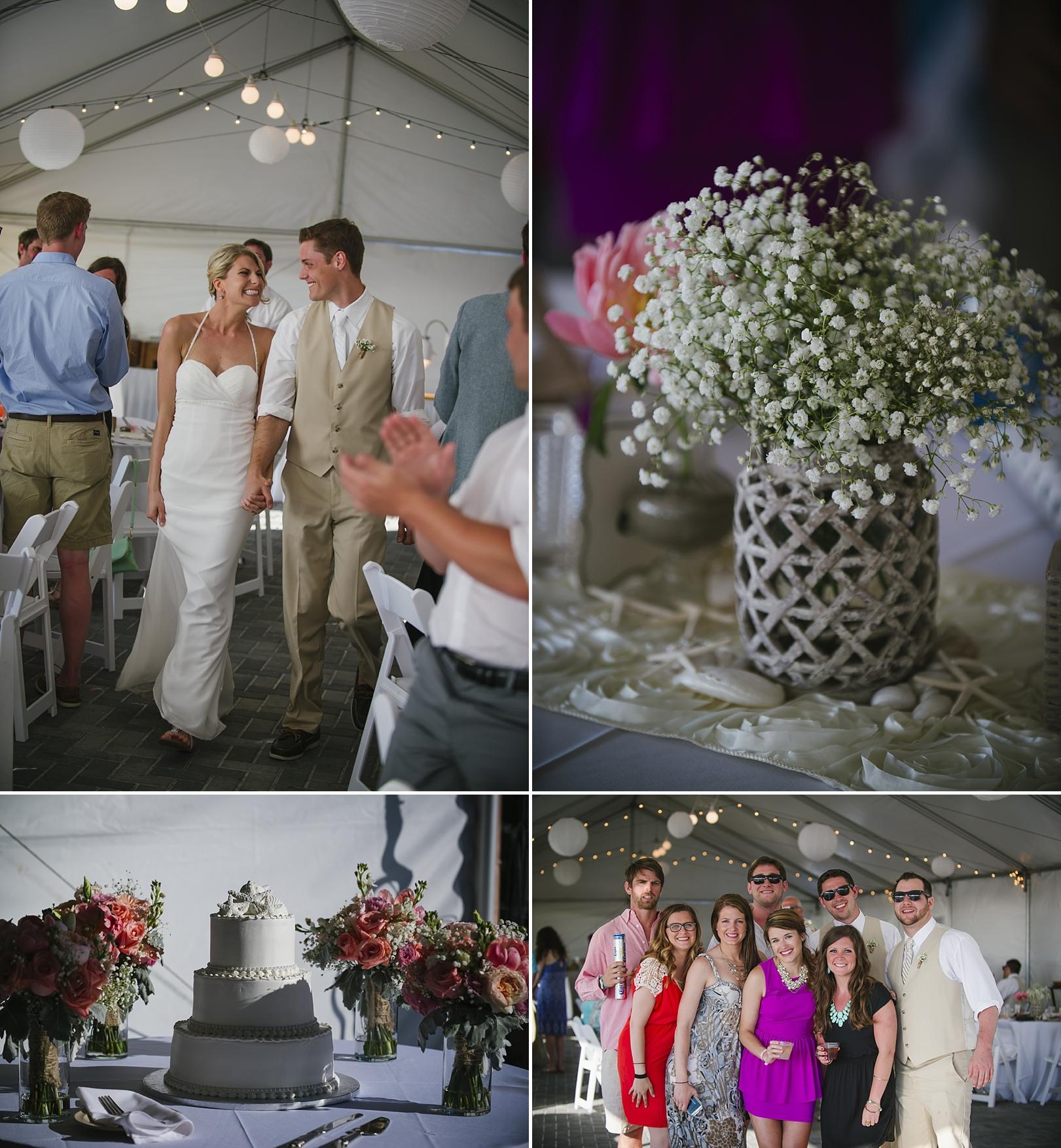 reception sirata beach wedding photos