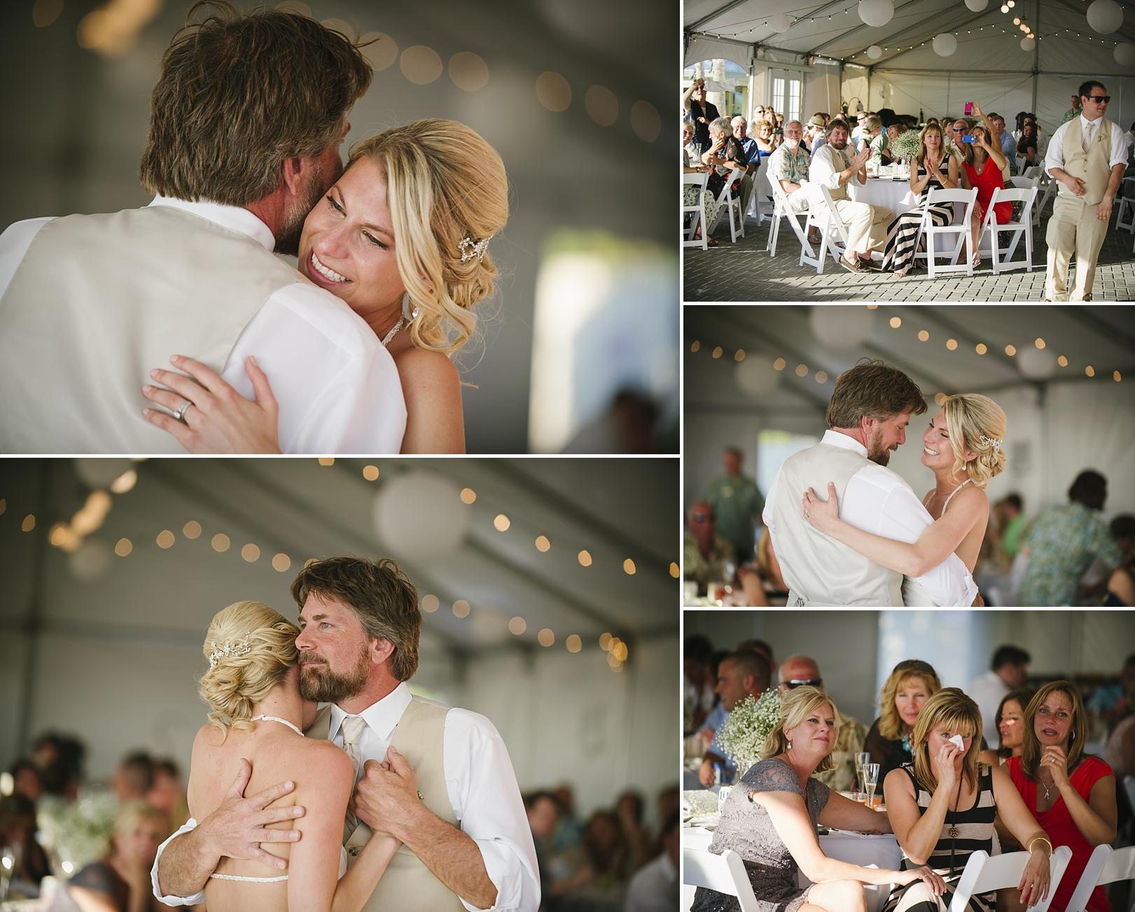 father daughter dance sirata beach wedding photos