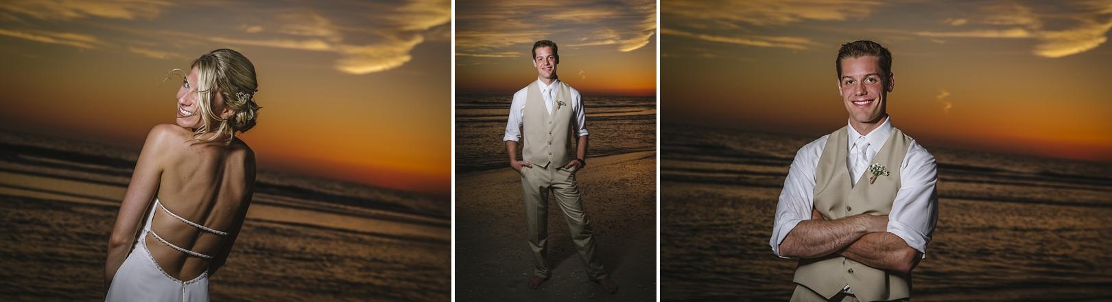 sunset sirata beach wedding photos