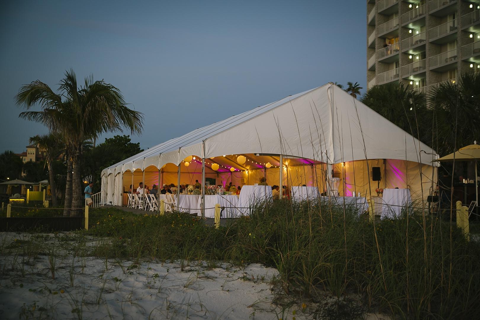 coconut palm  pavilion sirata beach wedding photos