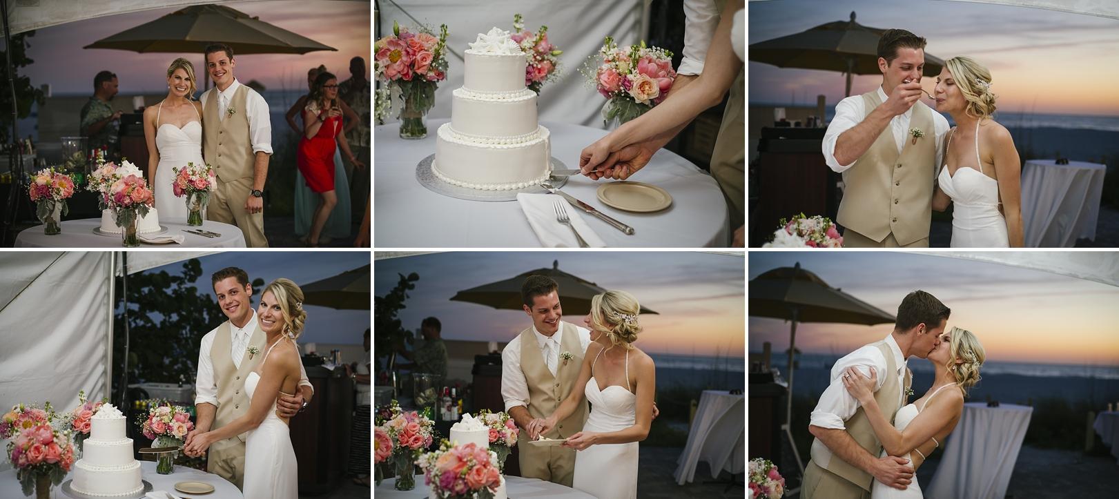 cake cutting sirata beach wedding photos