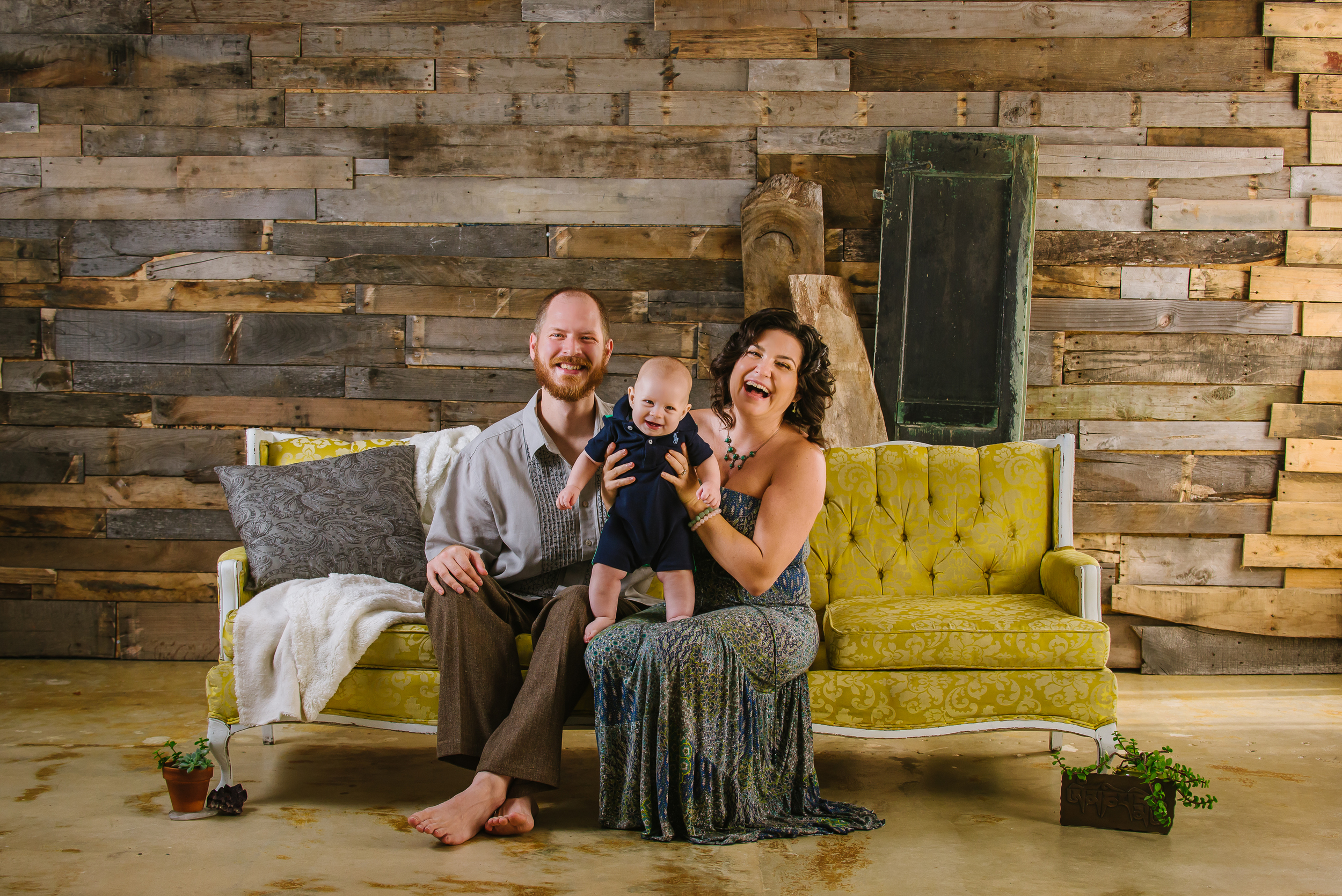 creative family portraits in studio tampa
