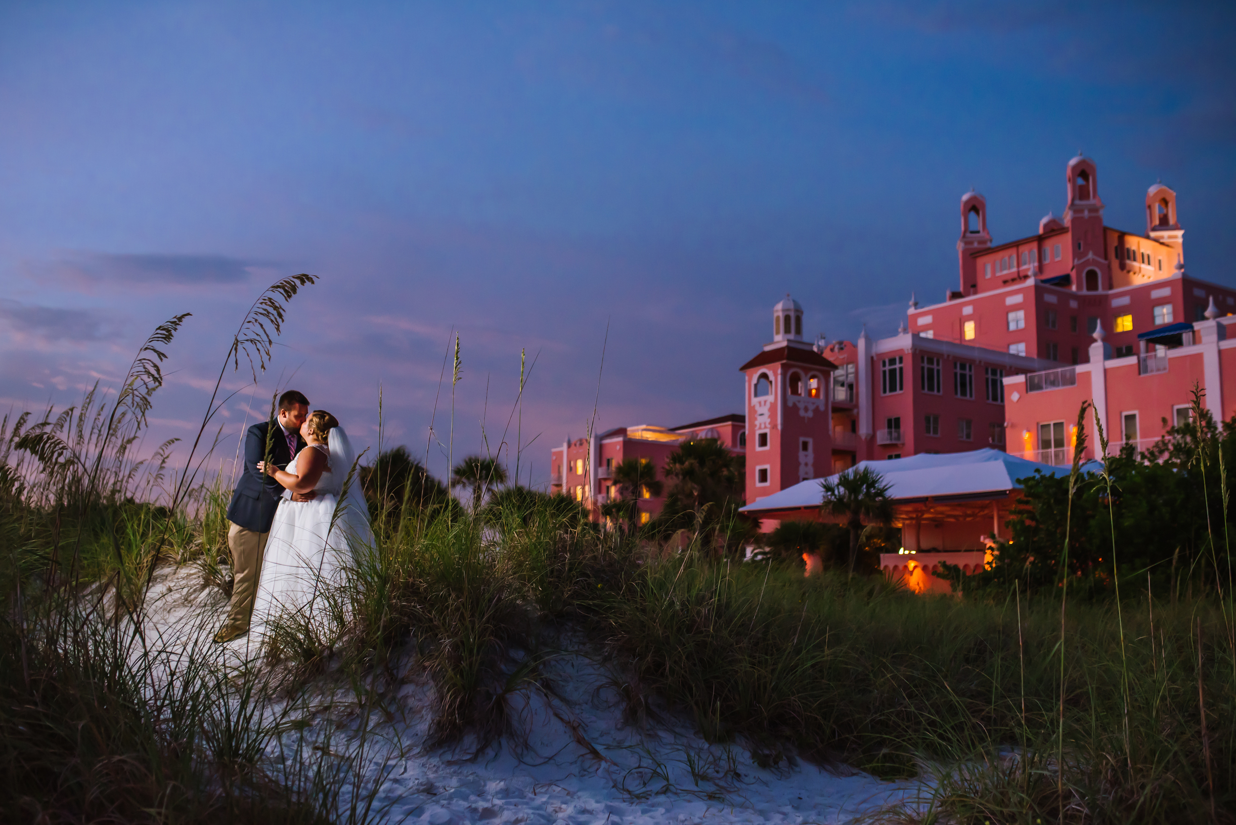 Katie and Jason had a perfectly pink sunset to go with their gorgeous venue and decor! Her awesome maid of honor is actually the sister of my next bride Birtney too! And I will never forget our fun day at Disney World for their engagement session!
