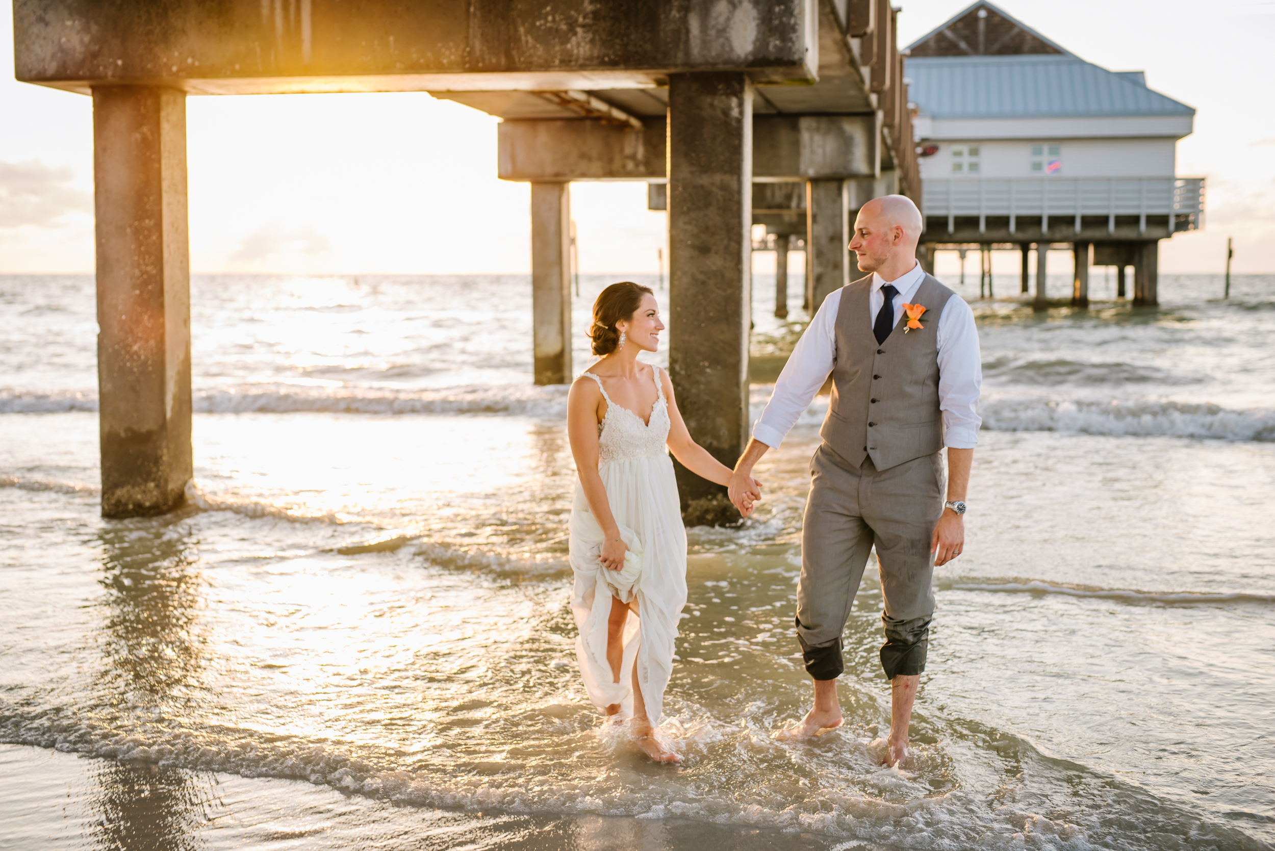 Jessica and Dennis got engaged near this very spot in 2014. I loved their day and how full of sentimental details it was. Her dress was made by a friend!