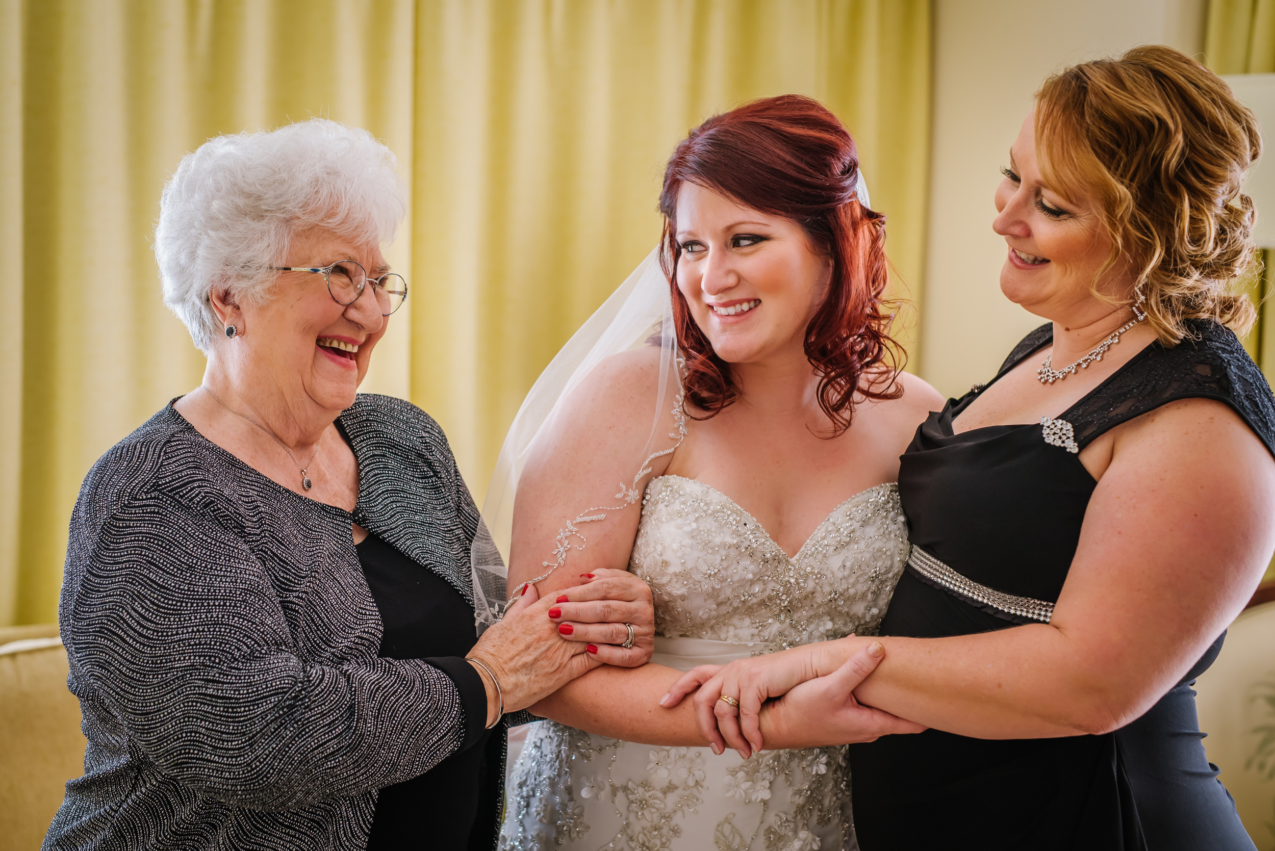 Christina and Nick share their Halloween wedding date with her lovely grandparents. This images of 3 generations of beautiful women makes me tear up!
