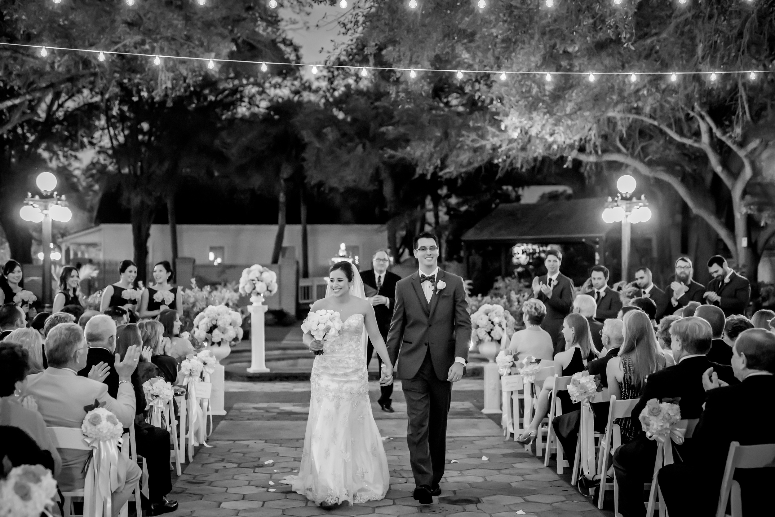 In November we had to start dealing with a sunset time of 5:30 :( But it actually made for a gorgeous ceremony under the market lights for Alexa and Chris in Ybor.