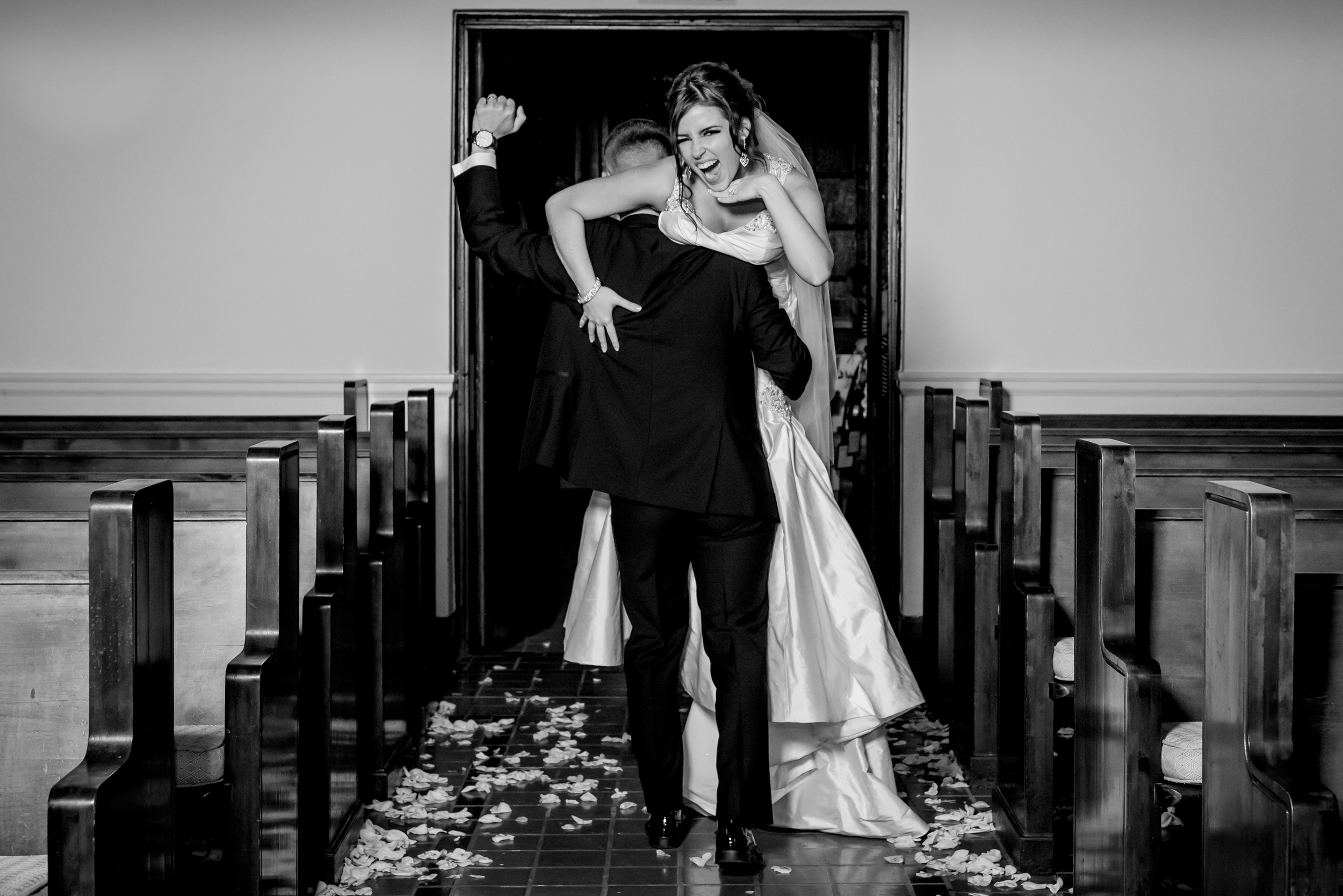 Chelsea and Tony are crazy, and crazy in love. This photo is a PERFECT reflection of their day!