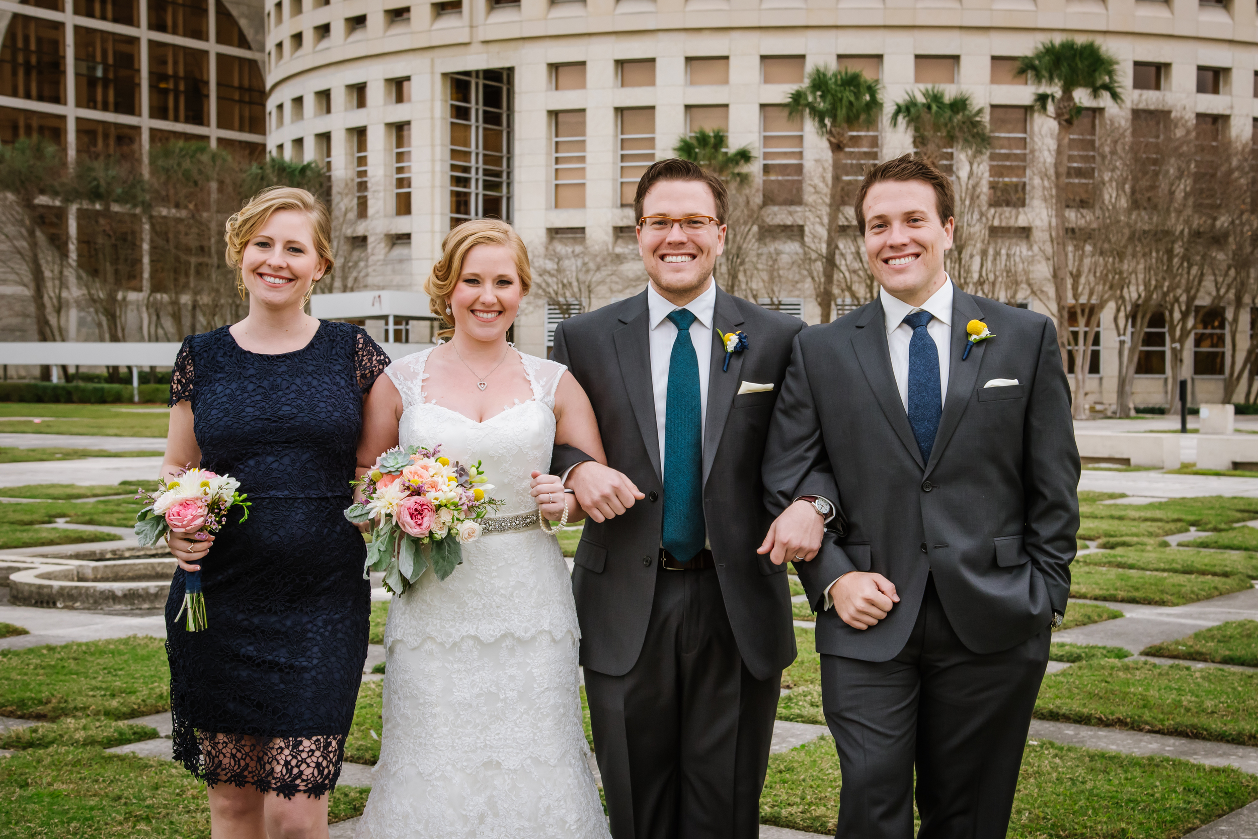 Next, Ana & Reece had a super rad and unique wedding in downtown! They are also both twins! How cool right?