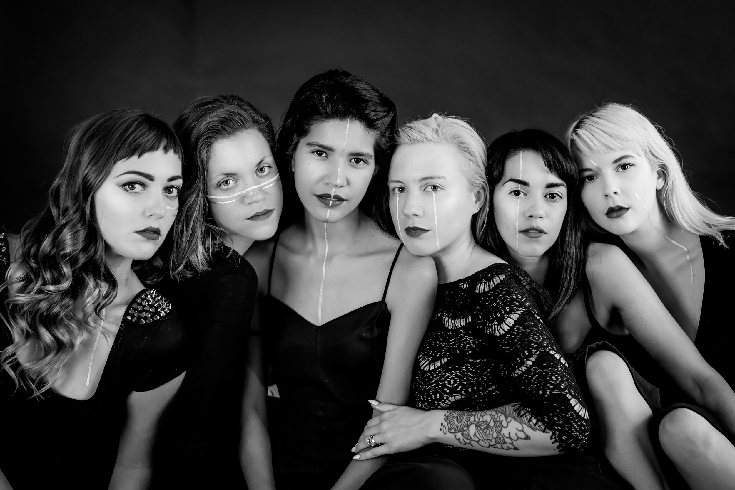 EeeEeeeE! I was so pumped to photograph some INCREDIBLE WOMEN!! These talented young artists and feminists get together and call themselves the Gilded Rag. I LOVED getting artsy with them at the studio to create promos for their fashion show at the Rialto!