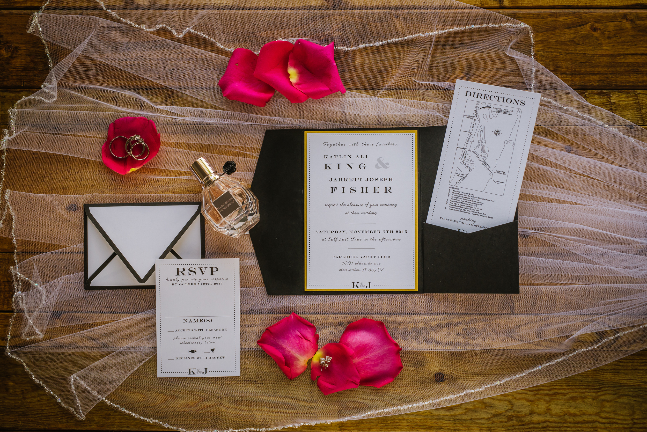tampa-wedding-photographer-invitations-flat-lay-commercial-black-fuchsia-invitations-coco-chanel-perfume