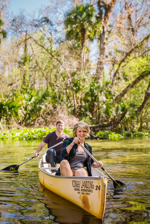 tampa-engagement-photographer-morris-bridge-wilderness-park-water-classy-love-laughter-candid-canoe-kayak-fun-adventure