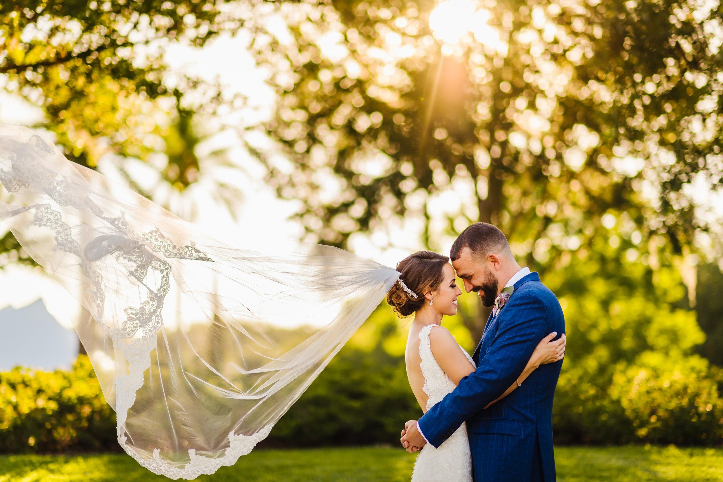 Tampa-Wedding-Photographer-Mision-Lago-Luxury-Estate-Veil-Sunset.jpg