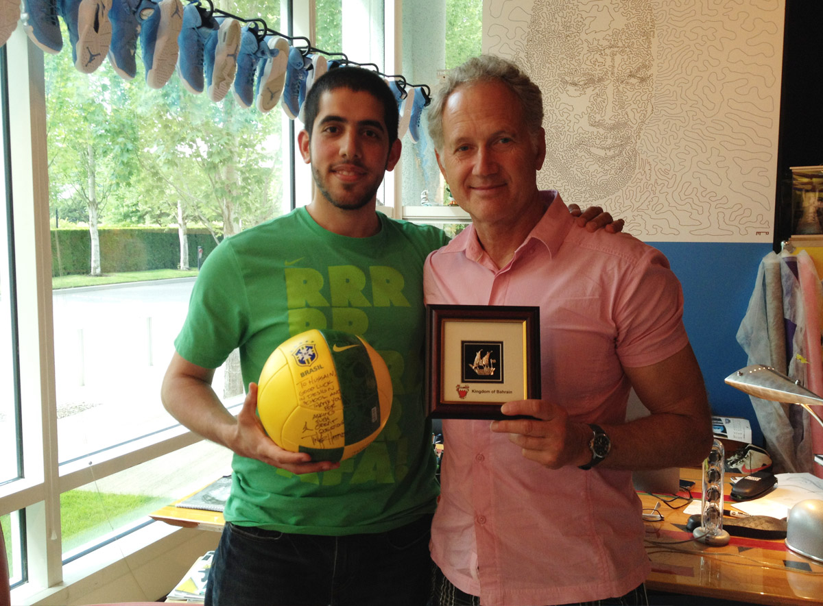 With Tinker Hatfield, VP of Design at Nike Inc.