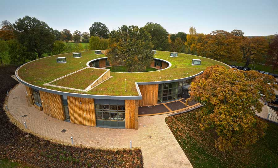 A green roof helps recapture and filter substantial amounts of rainwater, allowing a home to not only use less water, but also less heat.