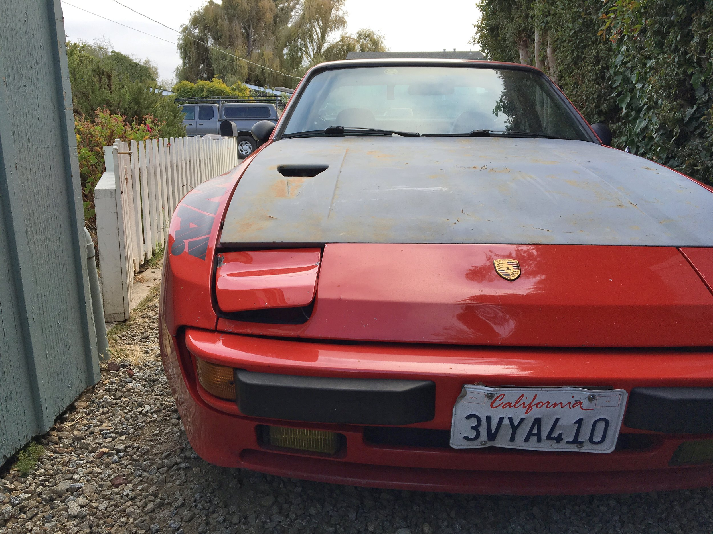 Deer Damage with 924 turbo hood and US bumper