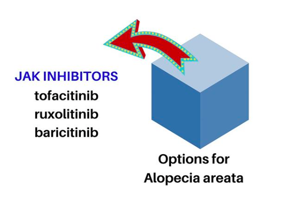 Although tofacitinib, ruxolitinib and baricitinib are FDA approved for various indications and now used off label for treating alopecia areata, other JAK inhibitor drugs are in the clinical trial stages.