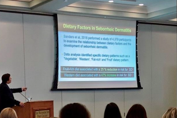 Dr. Donovan lecturing at the 2019 World Trichology Conference