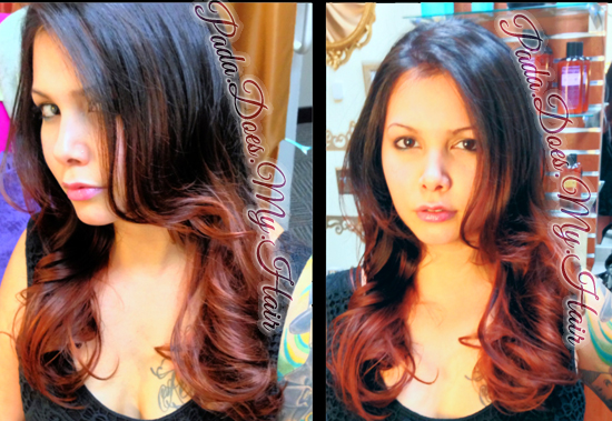 Violet & Copper High Contrast Ombre