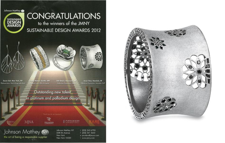 Johnson Matthey Palladium Award -  2012