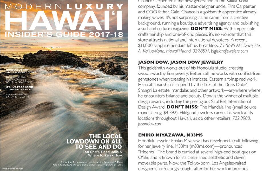 Hawai'i Modern Luxury Magazine  2017-2018