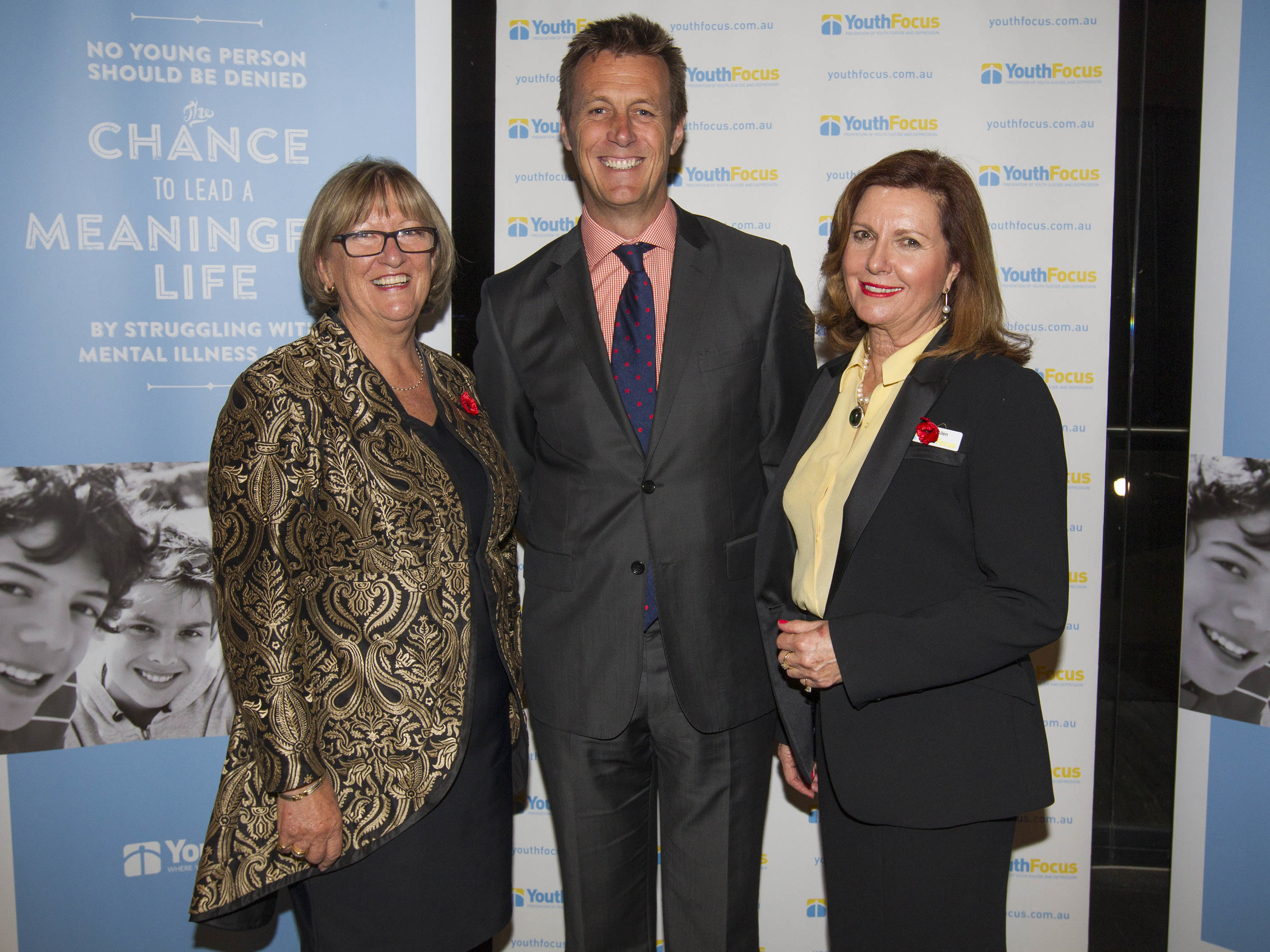 Minister for Mental Health; Hon Helen Morton MLC, Youth Focus Chairman; Peter Harold and Youth Focus CEO; Jenny Allen