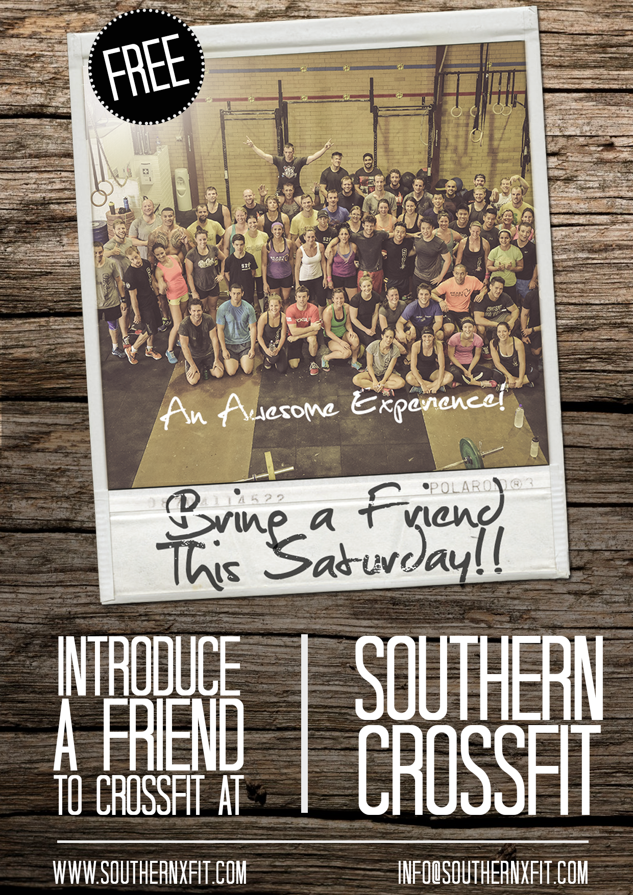 Southern CrossFit - Bring a Friend (A4 Poster - Rev 1).png