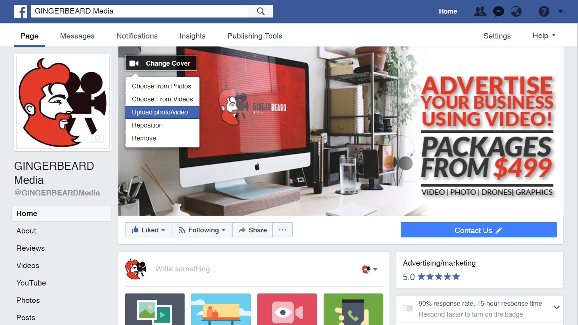 How to install a Facebook cover video