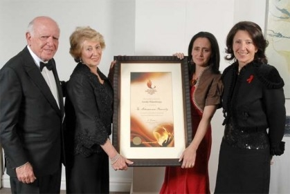 Wendy and Raymond Ackerman Family receiving the Inyathelo Award for Family Philanthropy