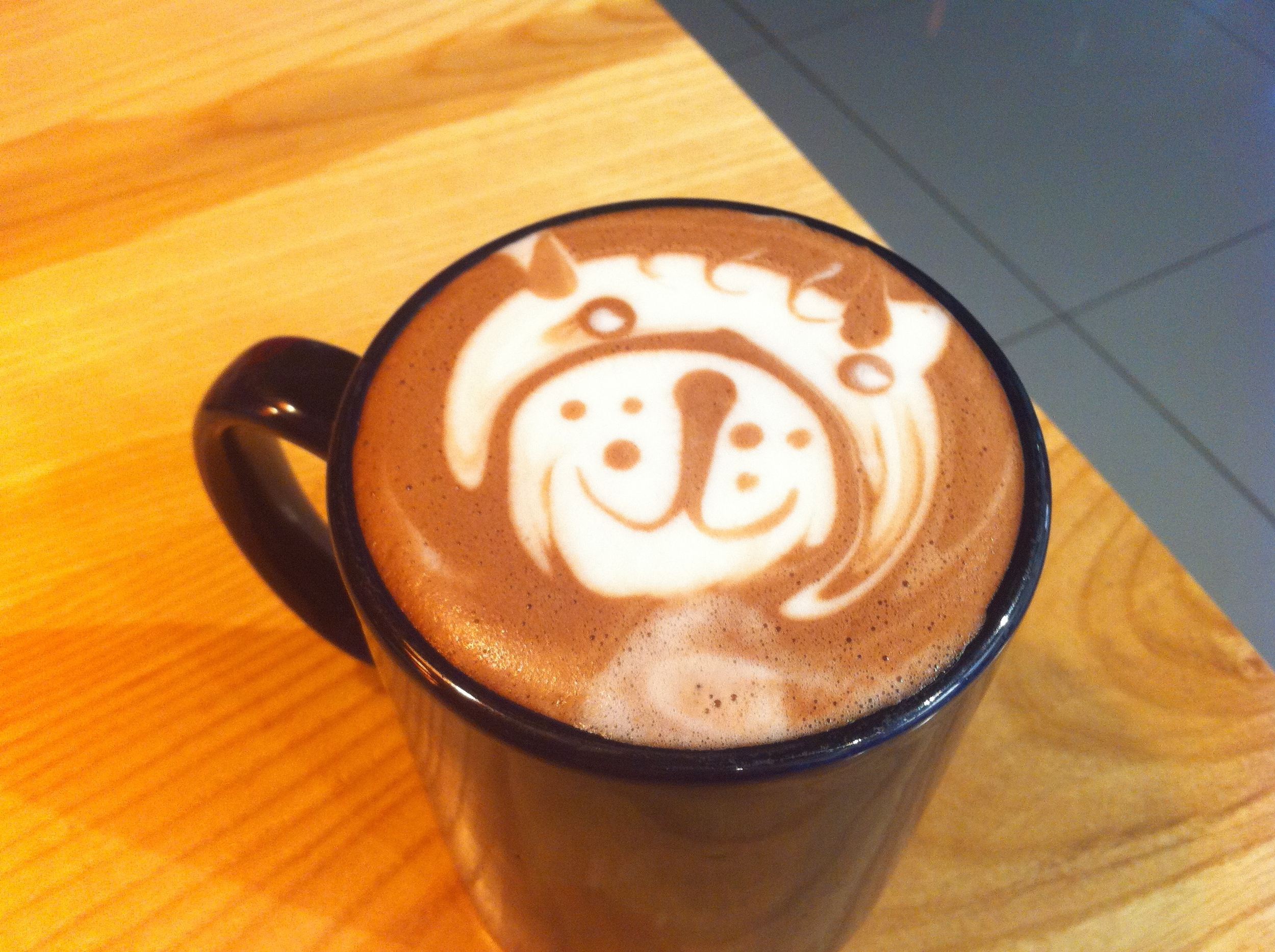 """My early morning heroes, Patrick, Brian and Dave, the amazing barista's at my local coffee spot, serve me up an early morning """"  Lioness""""  . Their artistry and ever cheerful mood always gets my day started on just the right note. Purrrrr!"""