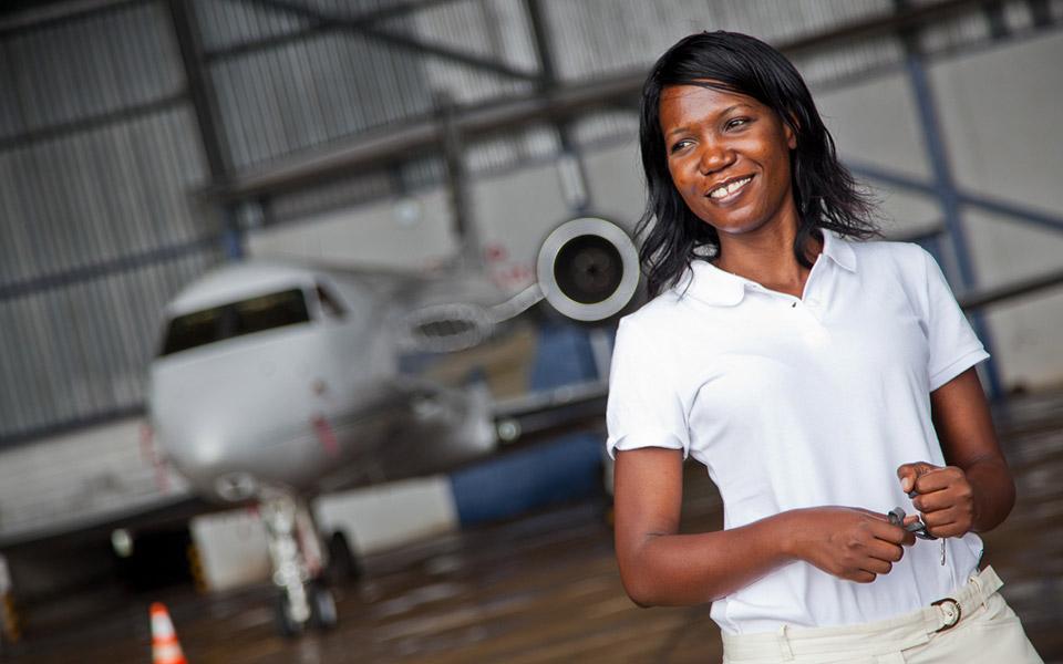 Susan Mashibe , founder of Via Aviation, Tanzania