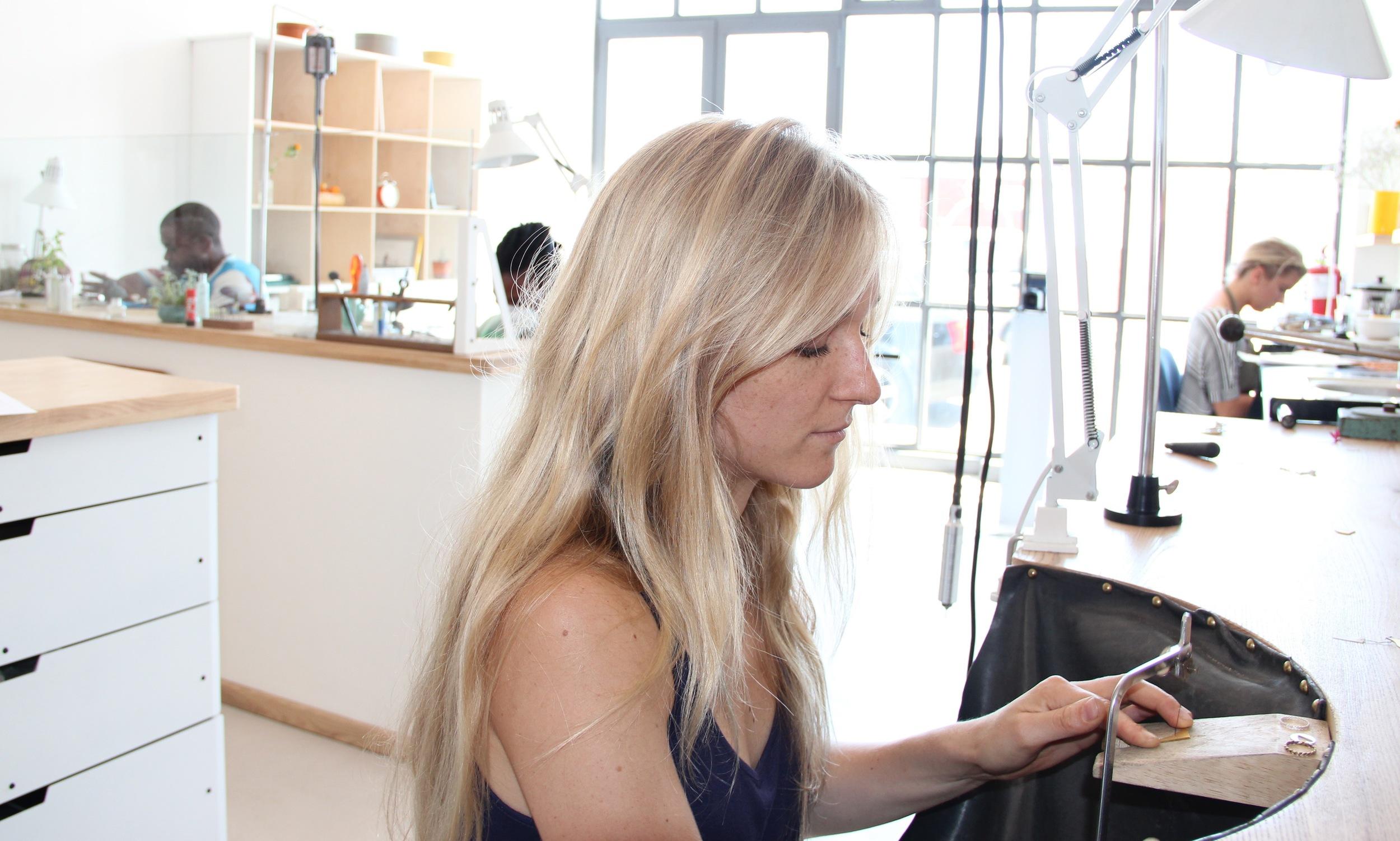 Karin at work in her studio