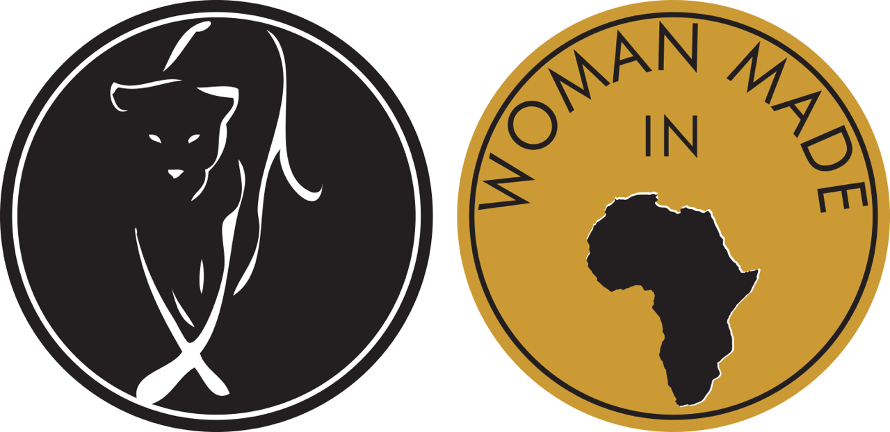 Lionesses and Woman in Africa black and gold.png