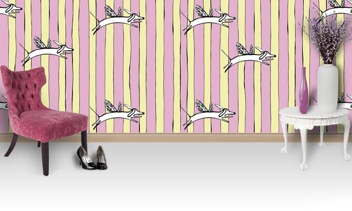 Victoria Verbaan,a hugely talented designer, artist and illustrator createsbeautiful handprinted and illustrated designs, fabrics and wallpaper